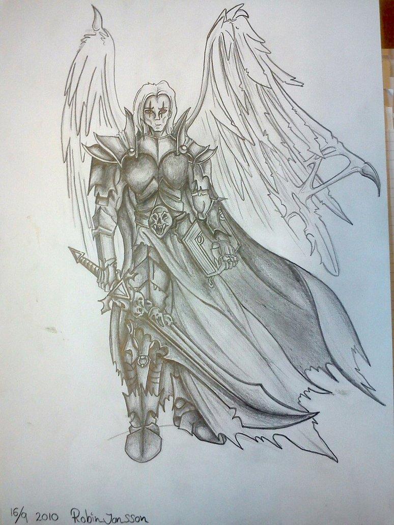 774x1032 Dark Angel Warrior By R0binjonsson