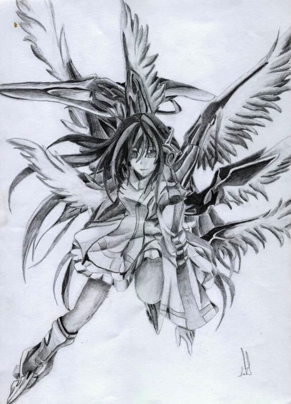 576x800 Warrior Angel By Naeylin