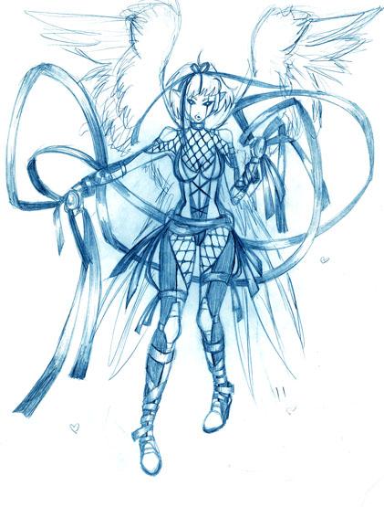 421x555 Angel Warrior By Sileas