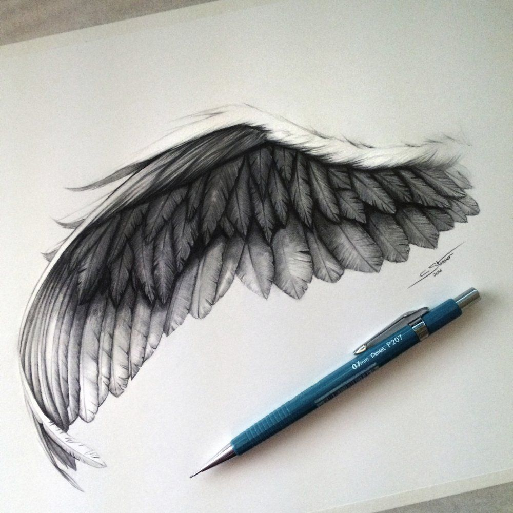 1000x1000 Angel Wing Drawing Wings Drawing