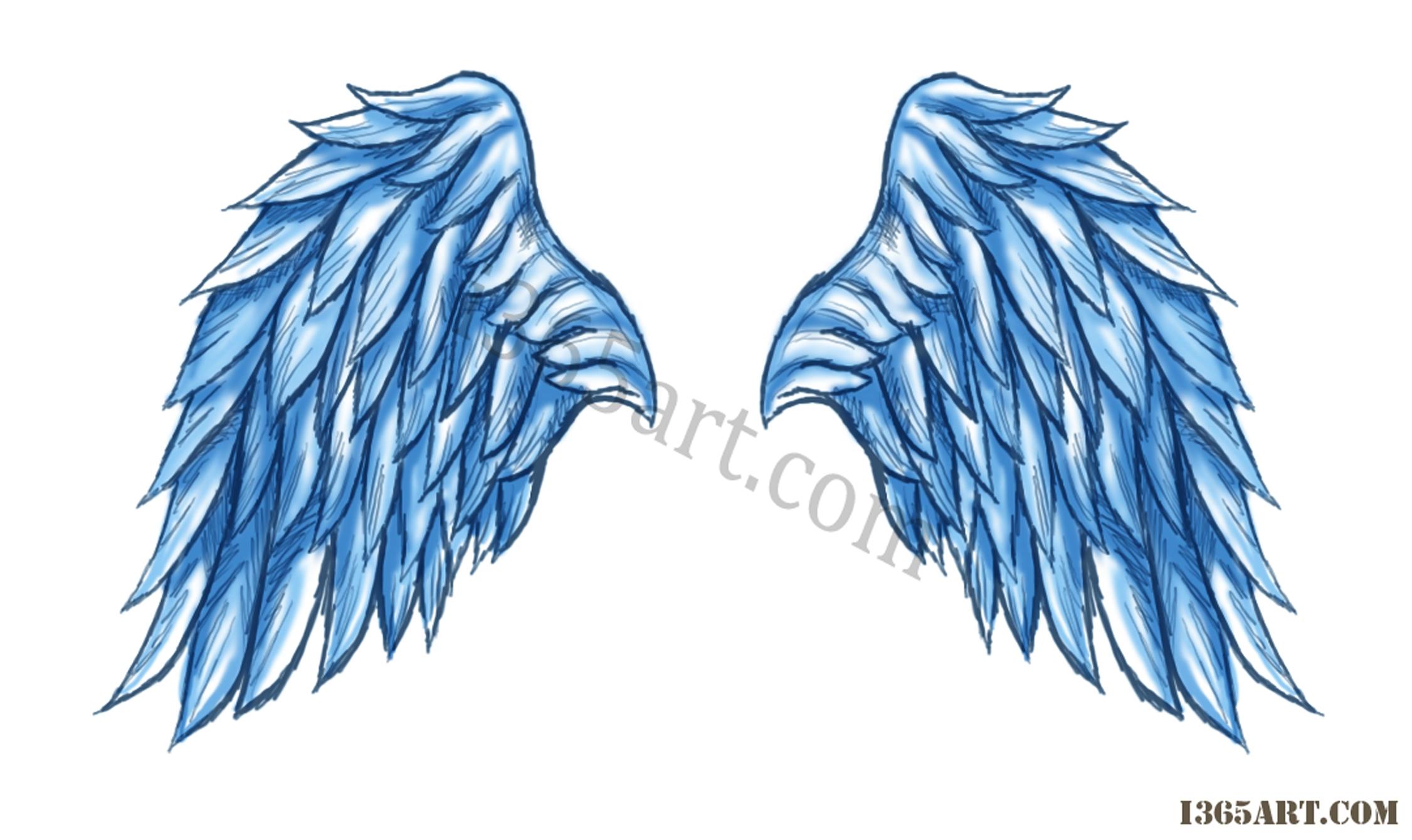 2252x1340 Angel Wings Drawings