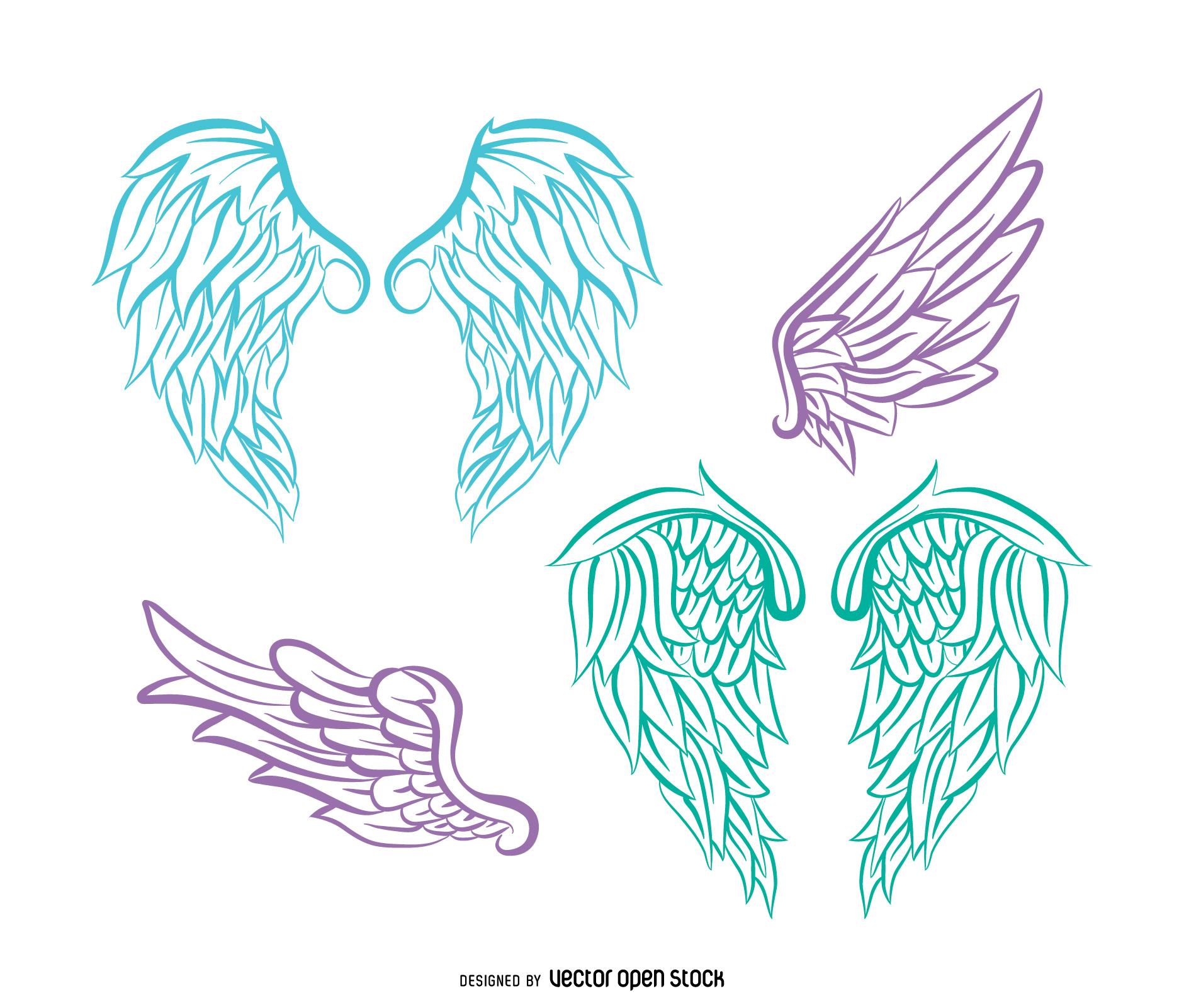 1881x1601 Angel Wings Line Drawing 3 Angel Wings Line Art