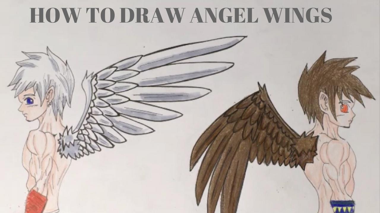 1280x720 How To Draw Angel Wings Manga Style