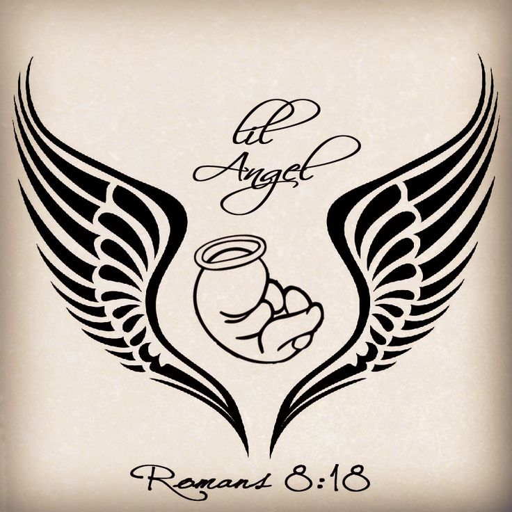736x736 An Unborn Baby With Holy Halo In Angel Wings Tattoo