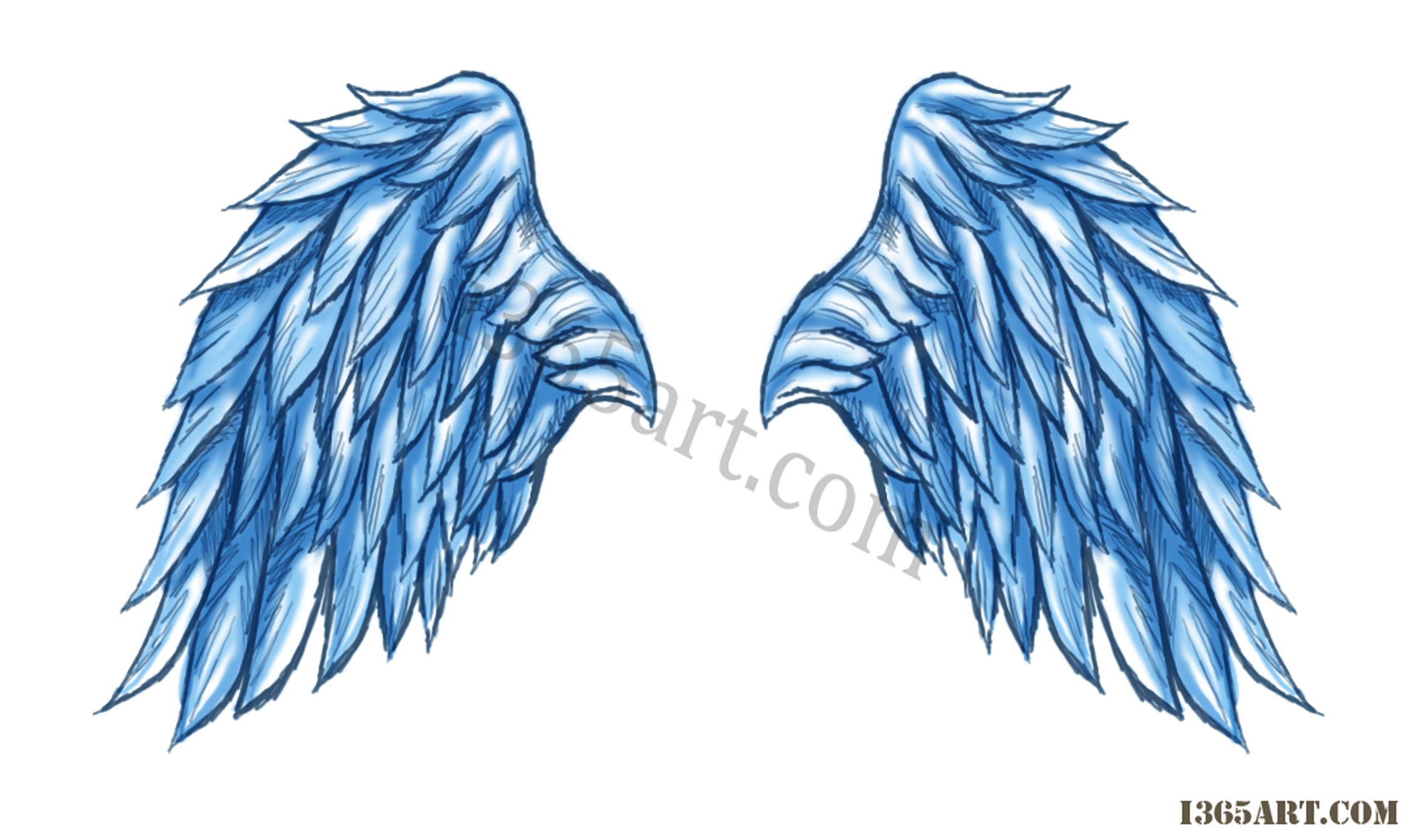 2252x1340 Angel Wing Drawings Angel Wings With Halo Drawings Free Download