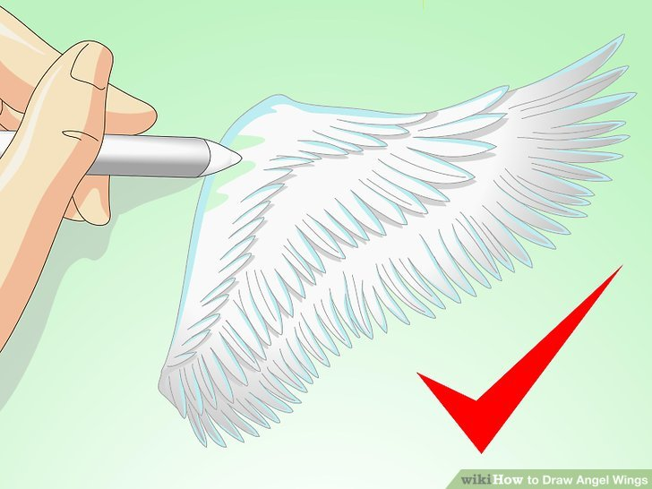 728x546 How To Draw Angel Wings 14 Steps (With Pictures)
