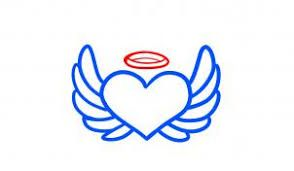 294x171 Image Result For Easy To Draw Angel Wings Halo Angel Tatoo