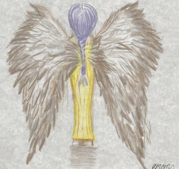 585x552 Angel Wings Drawings Free Amp Premium Templates