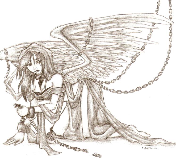 746x677 Burning Angel Wings To Dust By Broken Wings