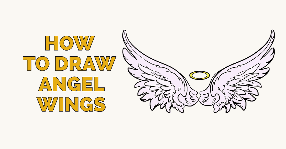 1200x628 How To Draw Angel Wings In A Few Easy Steps Easy Drawing Guides