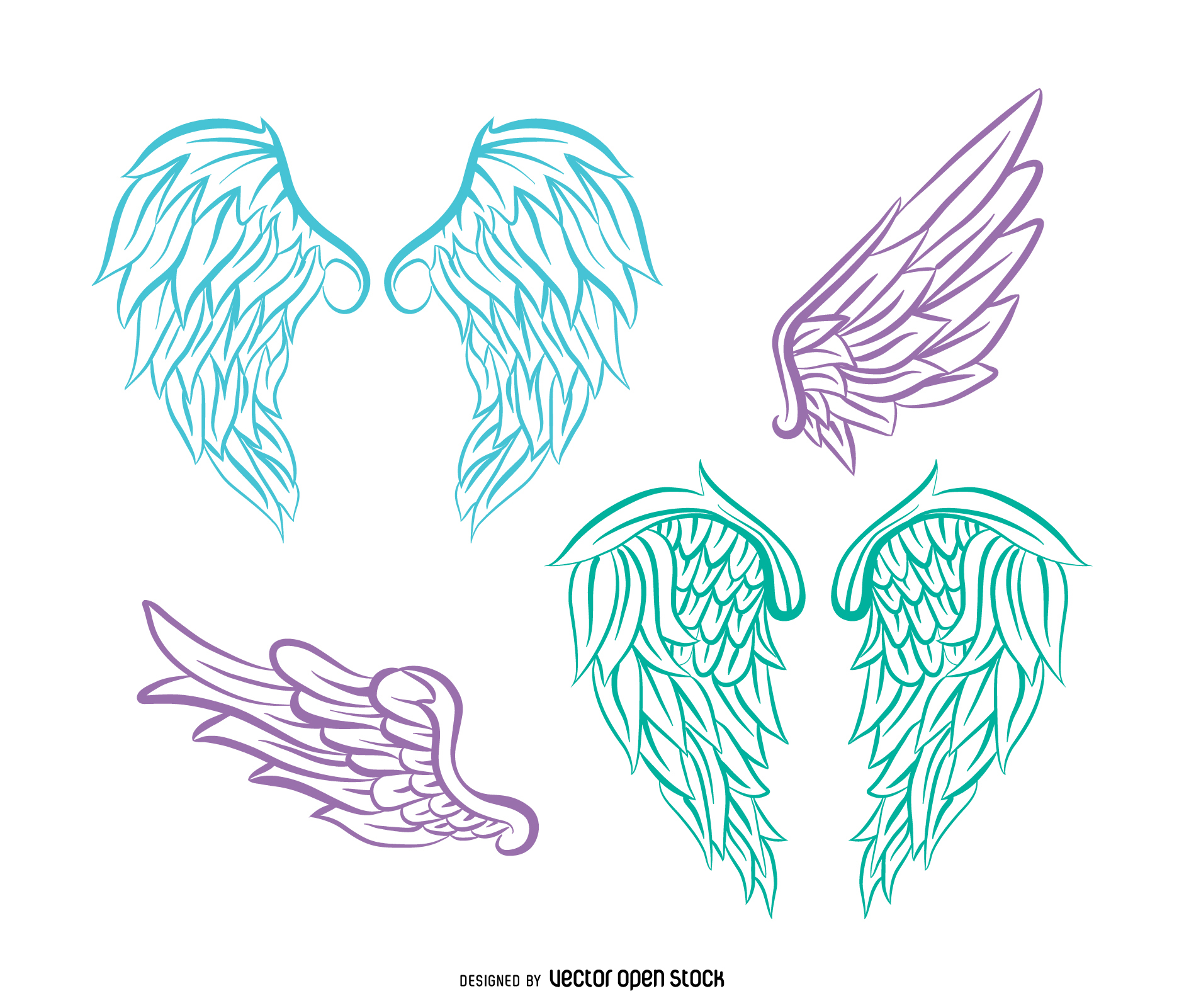 Angel Wings Drawing at GetDrawings.com | Free for personal use Angel ...