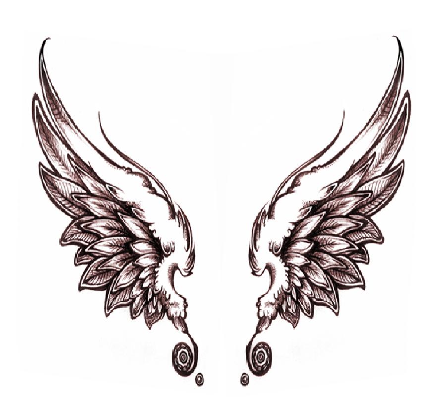 900x828 Dark Angel Wings By On @