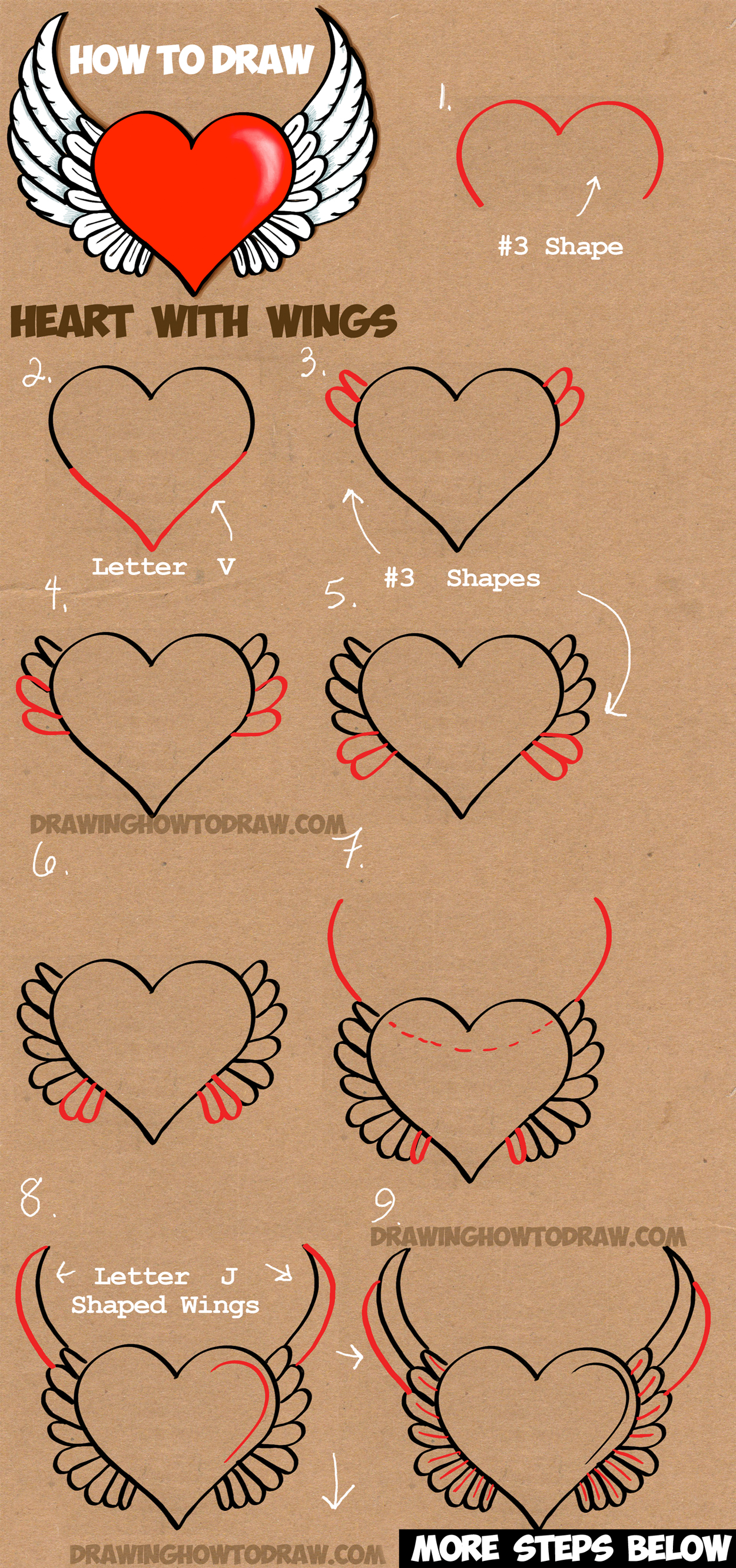 1250x2664 How To Draw A Heart With Wings