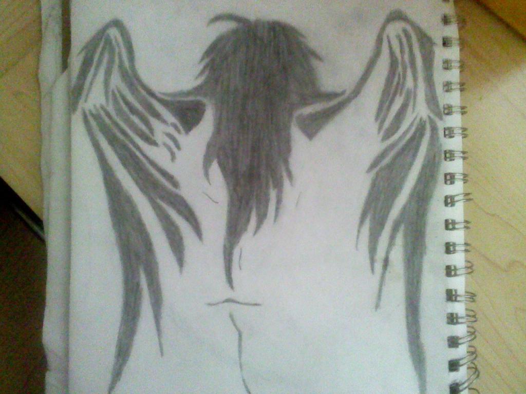 1024x768 Angel Pencil Drawing Hd Wallpaper Pencil Drawings Of Angel Wings
