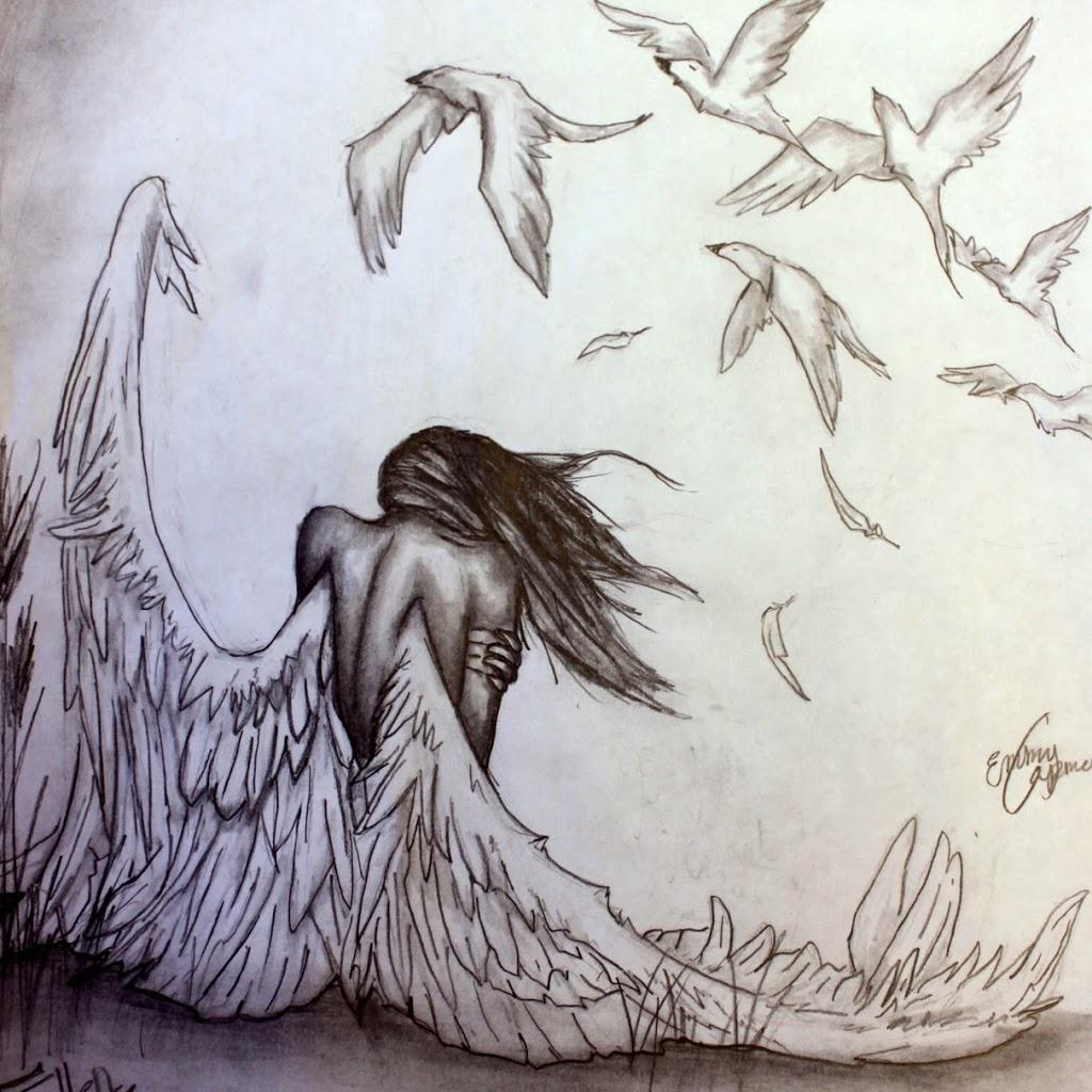 1024x1024 Hd Angels Pencil Art Wallpapers Angel Pencil Drawing Hd Wallpaper