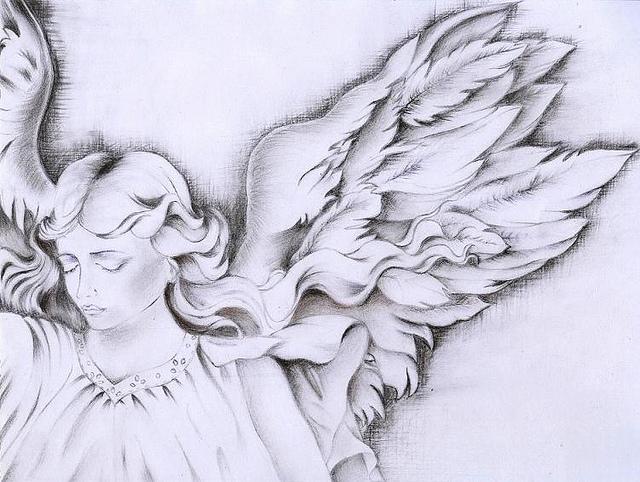 640x482 Angel Wings Drawing Angel, Drawings And Wings Drawing