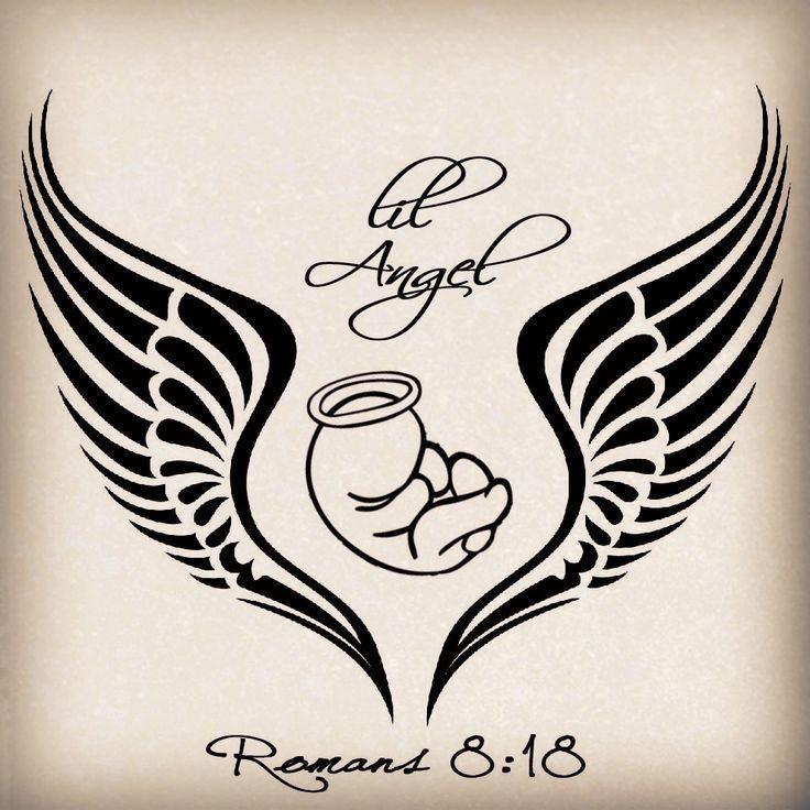 736x736 Baby Angel Wing Tattoo Designs ~ Tattooic