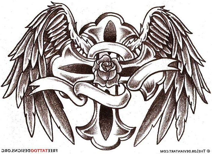 Angel Wings Tattoo Drawing At Getdrawings Com Free For Personal