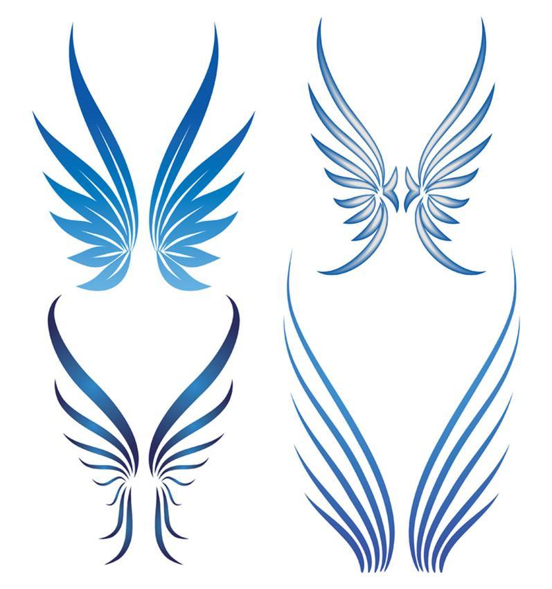 797x850 Simple Angel Wings Tattoo Designs Elaxsir