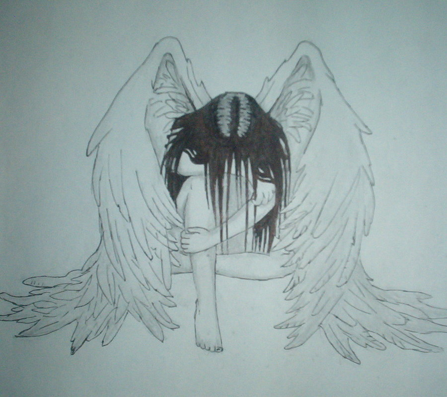 900x799 Angel Drawings Sad Angel By Aequili Drawing