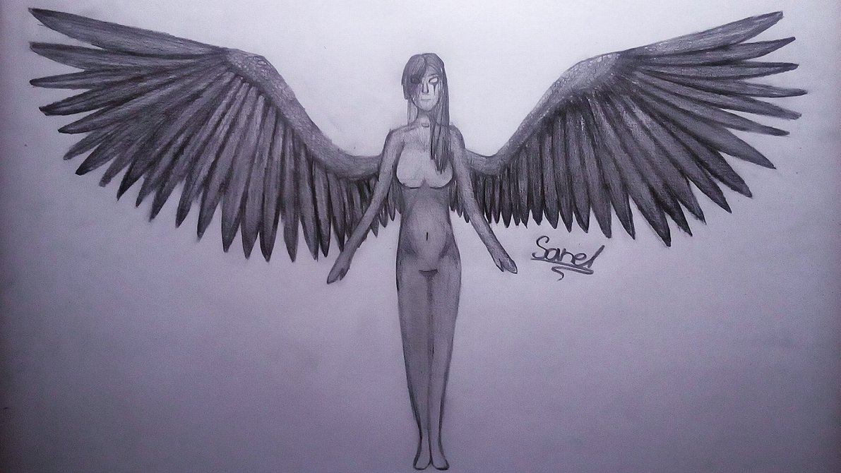 1191x670 Angel With Big Wings By Sanelcz