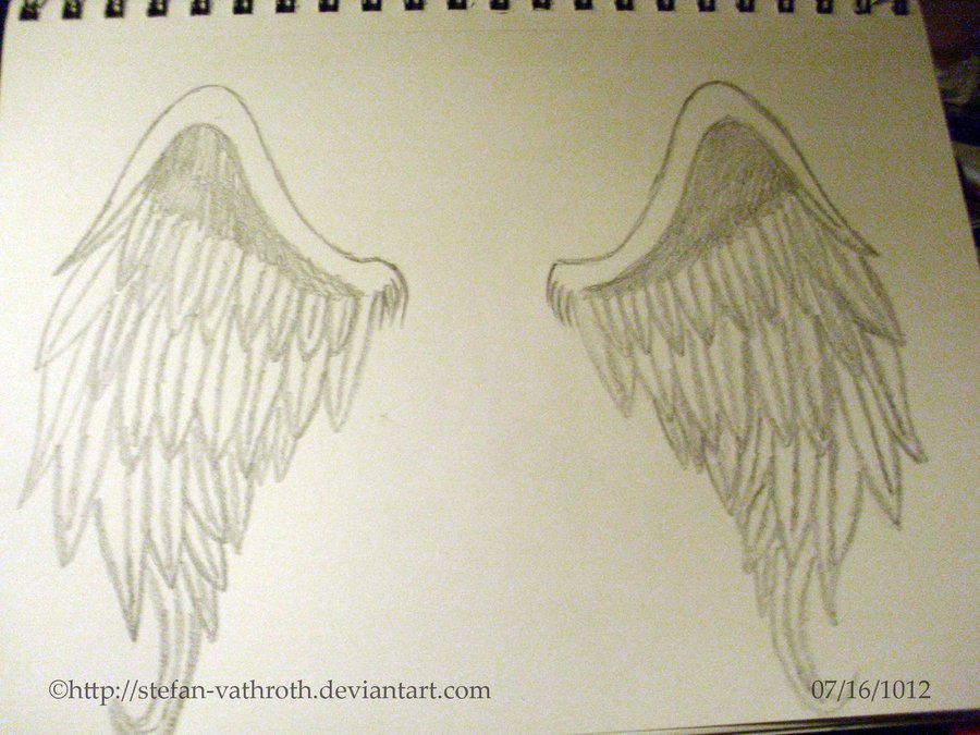 900x675 Angel Wings Drawn By Me. By Gothic Rebel