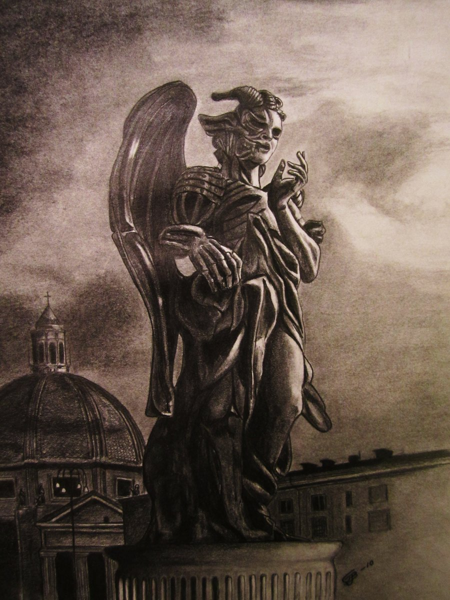 900x1200 Statue, Angels And Demons By Freddeb