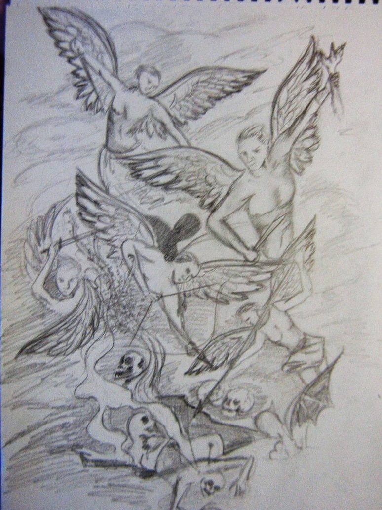 angels and demons drawing at getdrawings com free for personal use