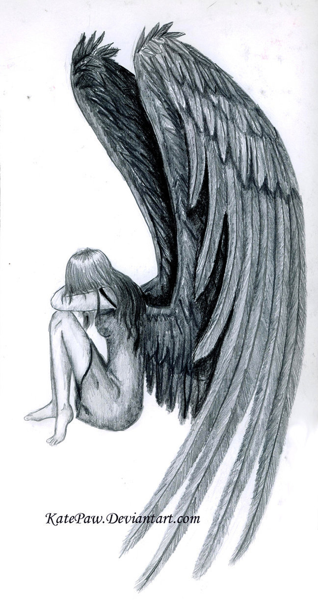 648x1231 How To Draw Fallen Angels Drawing A Fallen Angel, Stepstep