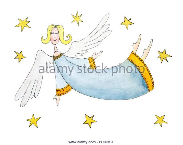 640x507 Angel Christmas Drawing Stock Photos amp Angel Christmas Drawing