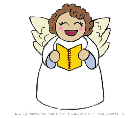 550x468 Angel Drawing