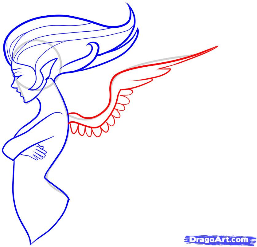837x804 how to draw angel wings step by step easy