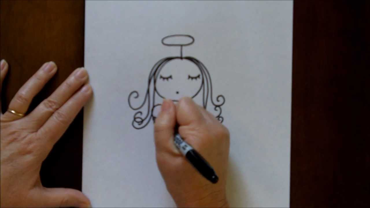 1280x720 How To Draw An Angel Step By Step Easy Drawing Tutorial