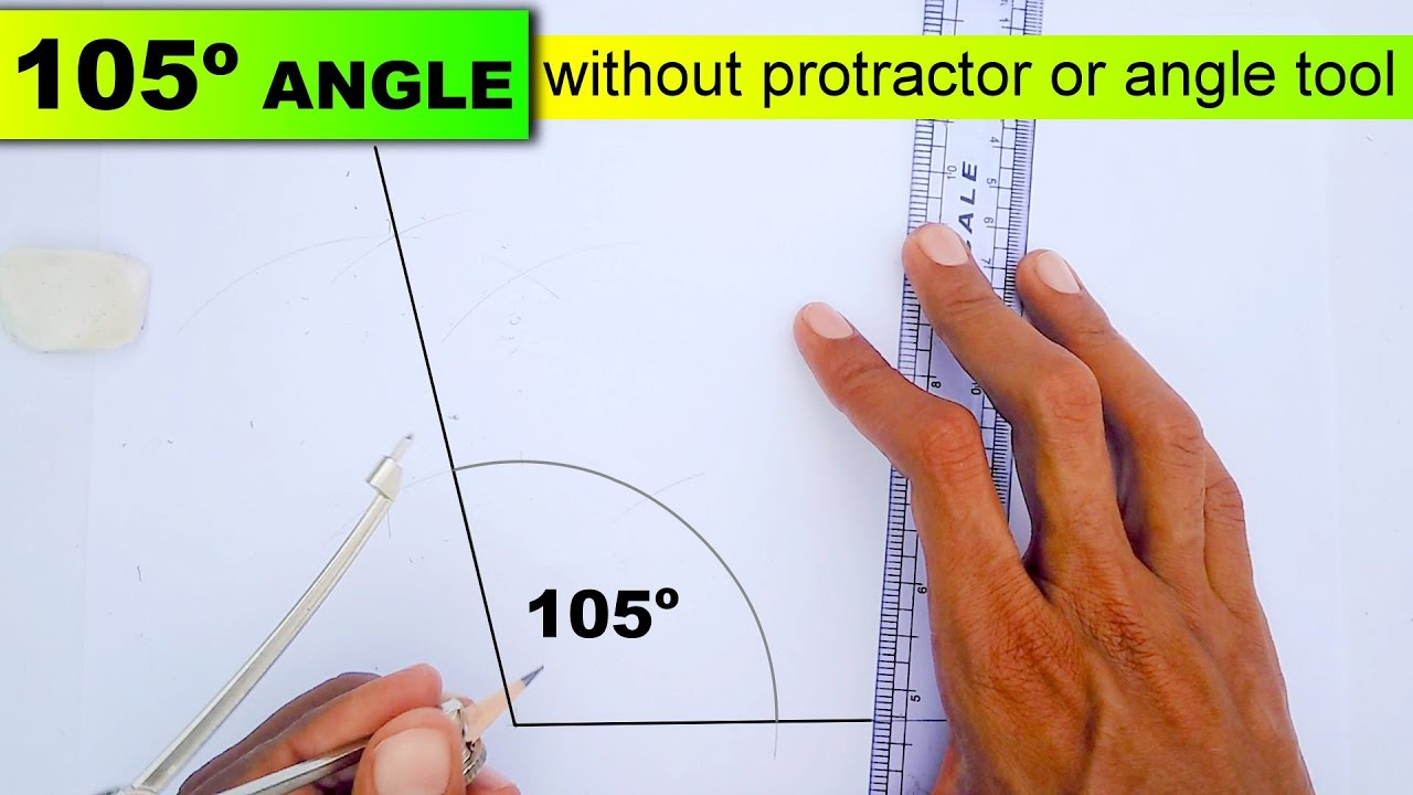 1280x720 Drawing 105 Degree Angle Without Protractor Or Angle Tool