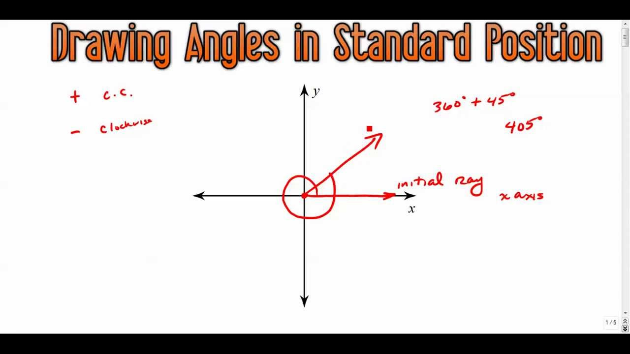 1280x720 Drawing Angles In Standard Position