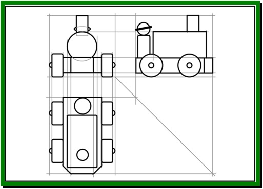 513x370 Drawing A First Angle Orthographic Projection Design And Technology