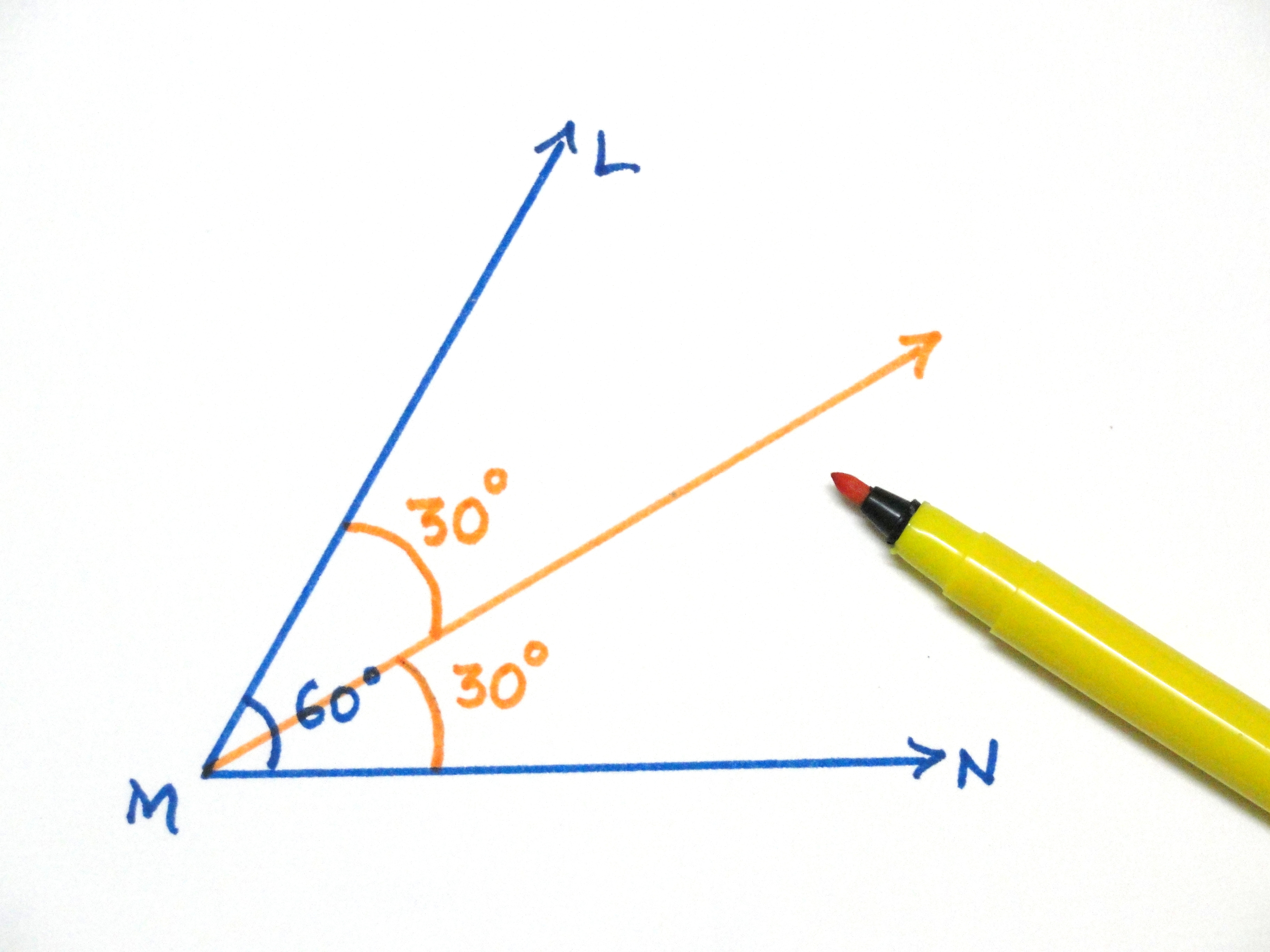 3648x2736 To Construct A 30 Degrees Angle Using Compass And Straightedge
