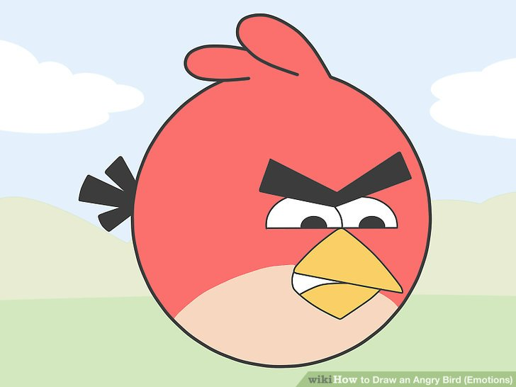 728x546 How To Draw An Angry Bird (Emotions) 15 Steps (With Pictures)