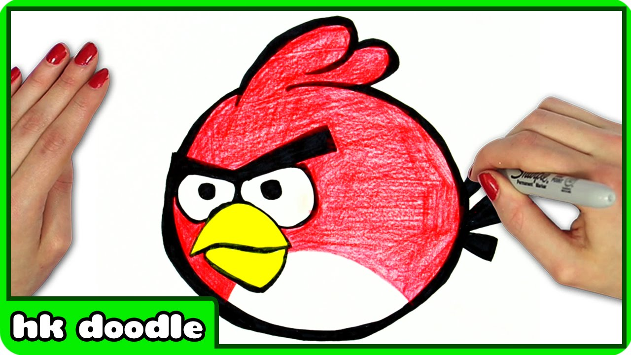 1280x720 How To Draw Angry Birds