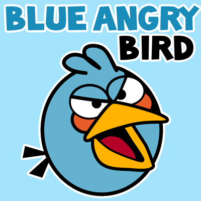 400x400 How To Draw Blue Bird From Angry Birds With Simple Step By Step