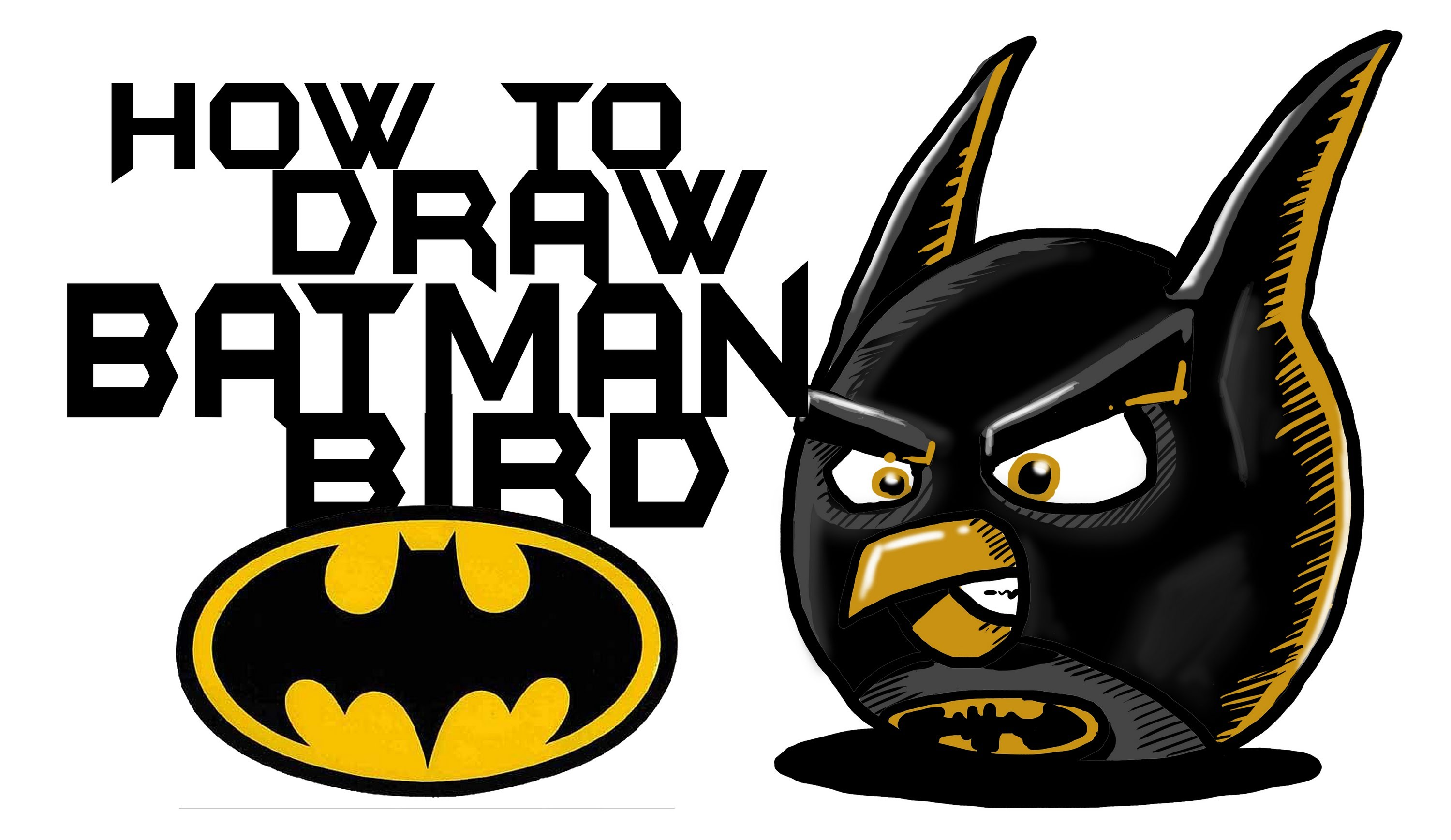 3000x1737 How To Draw Angry Birds Batman (Fanart)!! By Davide Ruvolo