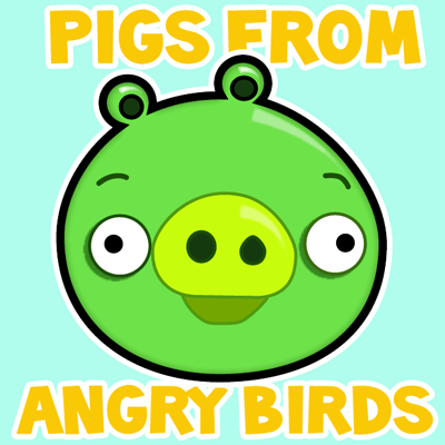 400x400 How To Draw Green Pig From Angry Birds Game In With Easy Step By