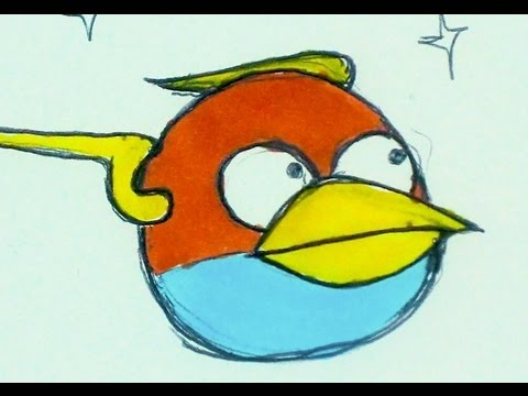 480x360 Draw Blue Bird Angry Birds Space