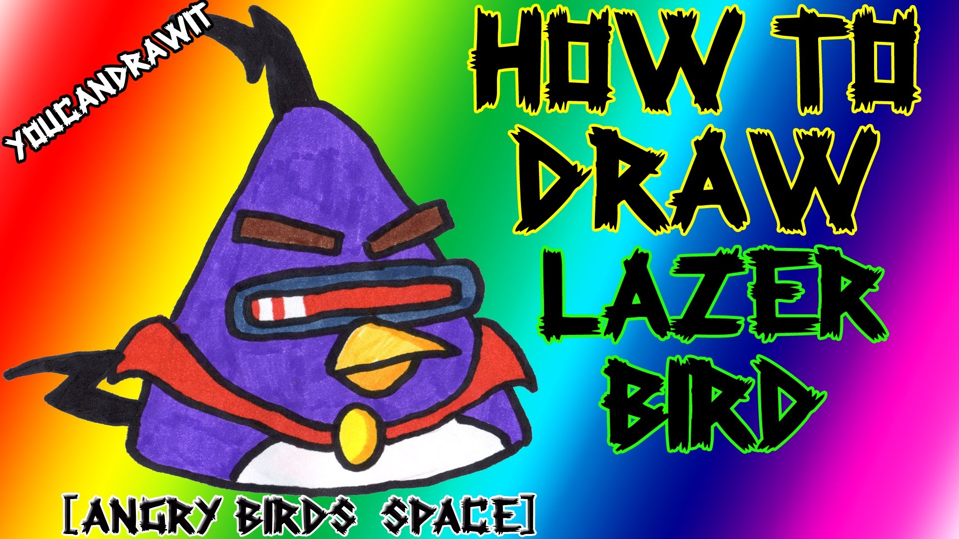1920x1080 How To Draw Space Lazer Bird From Angry Birds Space
