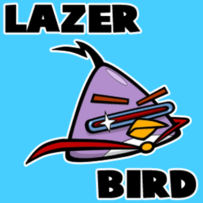 400x400 How To Draw Lazer Bird From Angry Birds Space With Easy Step By