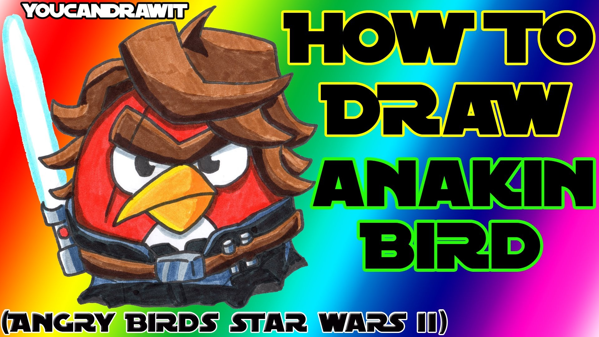 1920x1080 How To Draw Anakin Skywalker Bird From Angry Birds Star Wars 2