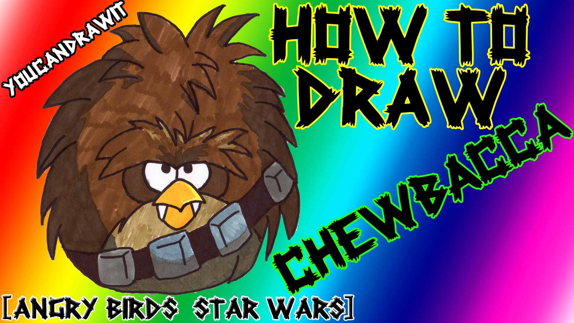 1920x1080 How To Draw Chewbacca (Terence Bird) From Angry Birds Star Wars