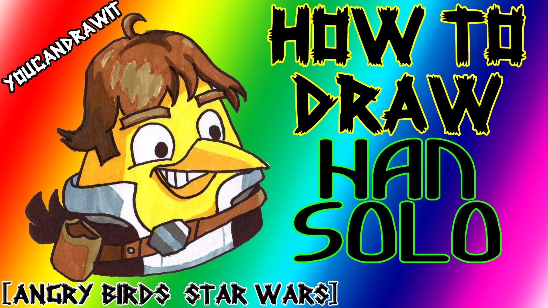 1920x1080 How To Draw Han Solo Bird From Angry Birds Star Wars