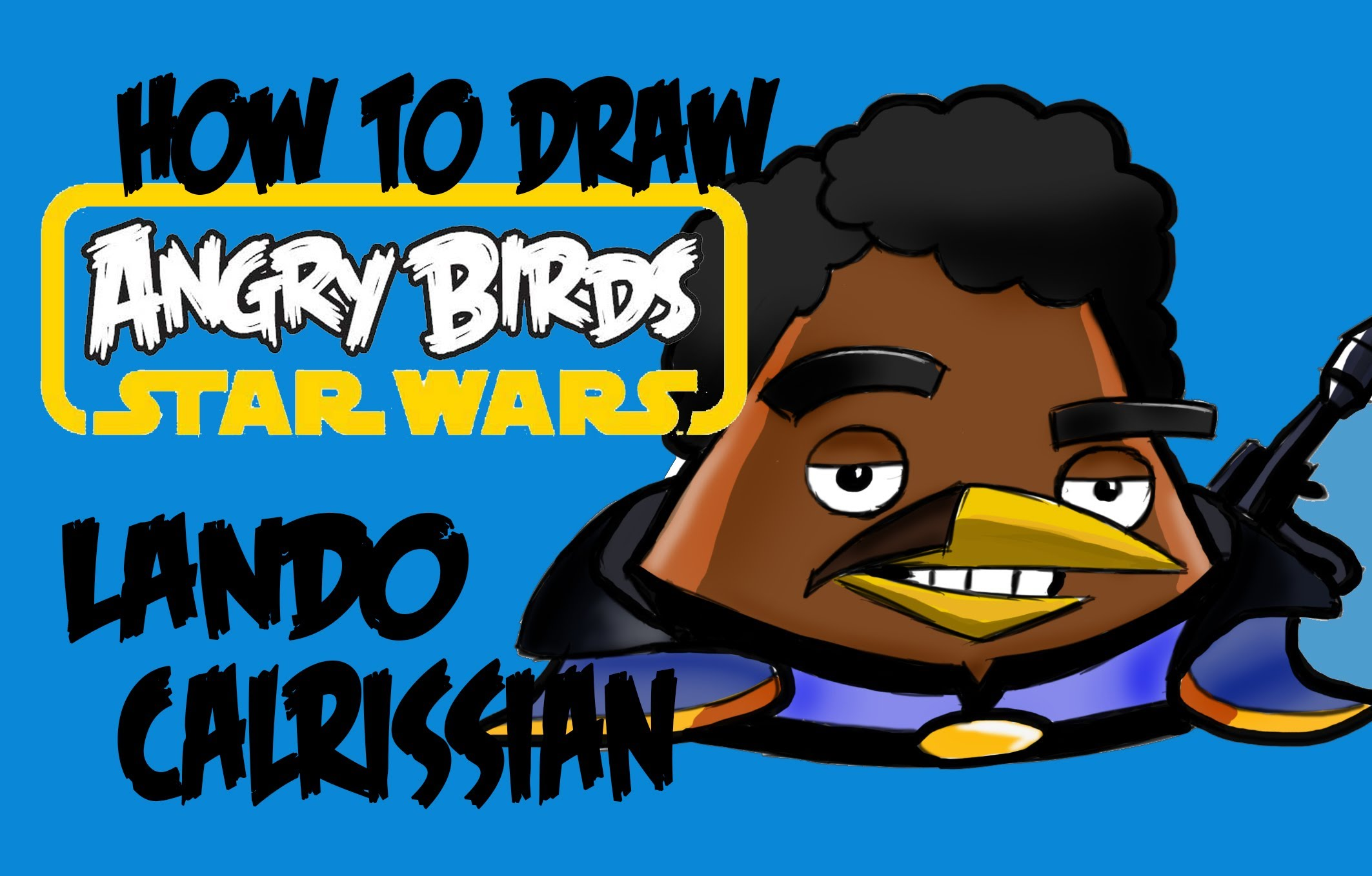 2126x1358 How To Draw Angry Birds Star Wars Lando Calrissian!!!