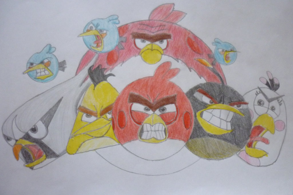 1024x683 Angry Birds 2 Drawing! Angry Birds 2 Dibujo By Zuluaga16